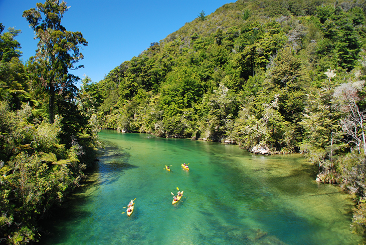 Falls River Kayaking in Abel Tasman National Park