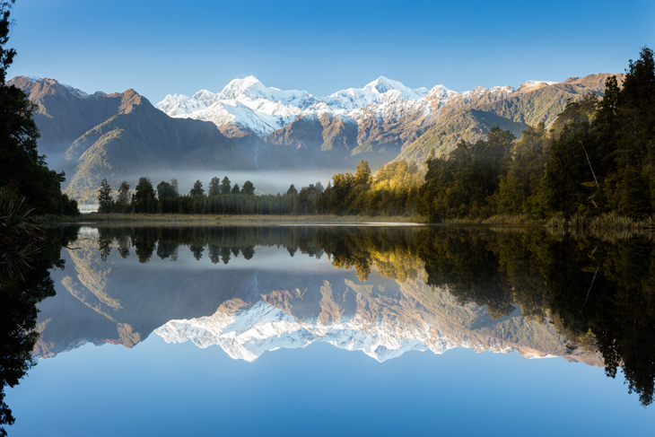 Lake Matheson on the South Island