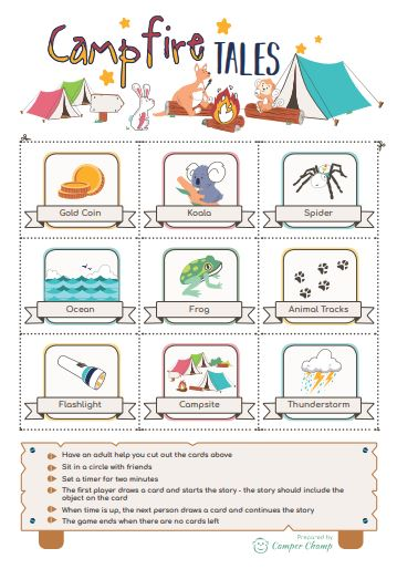 Camping Printable - Campfire Tales activity
