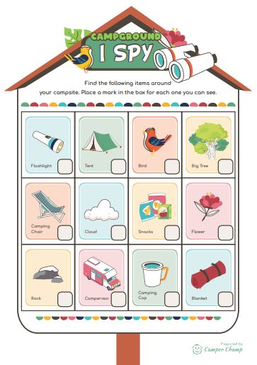 Camping Printable - Campground I Spy activity